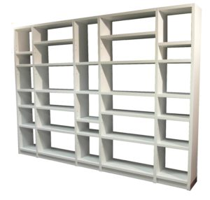 5 Bay White Shelf 2