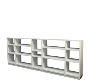 5 Bay White Shelf 3