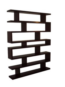 Tall Choc Brown Modern Shelf